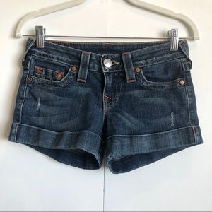 True religion Allie Cuffed Denim Shorts Size 26